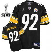Wholesale Cheap Steelers #92 James Harrison Black Super Bowl XLV Stitched NFL Jersey
