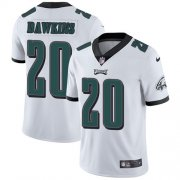 Wholesale Cheap Nike Eagles #20 Brian Dawkins White Men's Stitched NFL Vapor Untouchable Limited Jersey