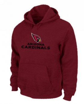 Wholesale Cheap Arizona Cardinals Authentic Logo Pullover Hoodie Red