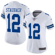 Wholesale Cheap Nike Cowboys #12 Roger Staubach White Women's Stitched NFL Vapor Untouchable Limited Jersey