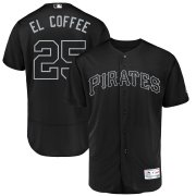 Wholesale Cheap Pittsburgh Pirates #25 Gregory Polanco El Coffee Majestic 2019 Players' Weekend Flex Base Authentic Player Jersey Black