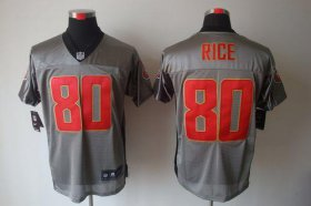 Wholesale Cheap Nike 49ers #80 Jerry Rice Grey Shadow Men\'s Stitched NFL Elite Jersey