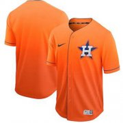 Wholesale Cheap Nike Astros Blank Orange Fade Authentic Stitched MLB Jersey
