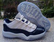 Wholesale Cheap Kids Air Jordan 11 Georgetown White/Blue
