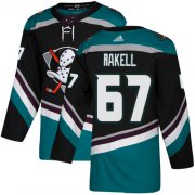 Wholesale Cheap Adidas Ducks #67 Rickard Rakell Black/Teal Alternate Authentic Youth Stitched NHL Jersey
