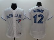 Wholesale Cheap Blue Jays #12 Roberto Alomar White Flexbase Authentic Collection Stitched MLB Jersey
