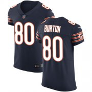 Wholesale Cheap Nike Bears #80 Trey Burton Navy Blue Team Color Men's Stitched NFL Vapor Untouchable Elite Jersey