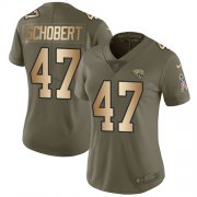 Wholesale Cheap Nike Jaguars #47 Joe Schobert Olive/Gold Women's Stitched NFL Limited 2017 Salute To Service Jersey