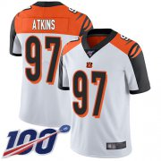 Wholesale Cheap Nike Bengals #97 Geno Atkins White Men's Stitched NFL 100th Season Vapor Limited Jersey