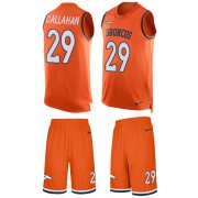 Wholesale Cheap Nike Broncos #29 Bryce Callahan Orange Team Color Men's Stitched NFL Limited Tank Top Suit Jersey