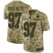 Wholesale Cheap Nike Panthers #97 Yetur Gross-Matos Camo Men's Stitched NFL Limited 2018 Salute To Service Jersey