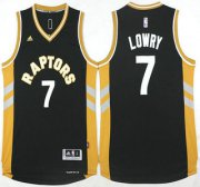 Wholesale Cheap Men's Toronto Raptors #7 Kyle Lowry Revolution 30 Swingman 2015-16 Black Jersey