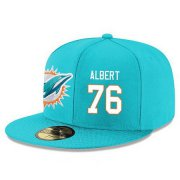 Wholesale Cheap Miami Dolphins #76 Branden Albert Snapback Cap NFL Player Aqua Green with White Number Stitched Hat