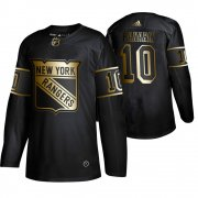 Wholesale Cheap Adidas Rangers #10 Artemi Panarin Men's 2019 Black Golden Edition Authentic Stitched NHL Jersey