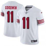 Wholesale Cheap Nike 49ers #11 Marquise Goodwin White Rush Men's Stitched NFL Vapor Untouchable Limited Jersey