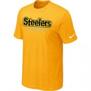 Wholesale Cheap Nike Pittsburgh Steelers Sideline Legend Authentic Font Dri-FIT NFL T-Shirt Yellow