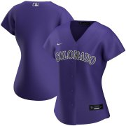 Wholesale Cheap Colorado Rockies Nike Women's Alternate 2020 MLB Team Jersey Purple