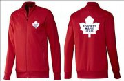 Wholesale Cheap NHL Toronto Maple Leafs Zip Jackets Red