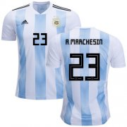 Wholesale Cheap Argentina #23 A.Marchesin Home Soccer Country Jersey