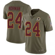 Wholesale Cheap Nike Redskins #24 Josh Norman Olive Youth Stitched NFL Limited 2017 Salute to Service Jersey