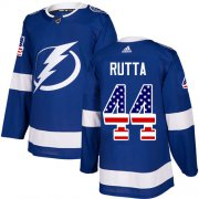 Cheap Adidas Lightning #44 Jan Rutta Blue Home Authentic USA Flag Stitched NHL Jersey