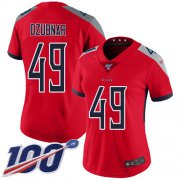 Wholesale Cheap Nike Titans #49 Nick Dzubnar Red Women's Stitched NFL Limited Inverted Legend 100th Season Jersey