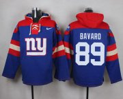 Wholesale Cheap Nike Giants #89 Mark Bavaro Royal Blue Player Pullover NFL Hoodie