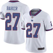 Wholesale Cheap Nike Giants #27 Deandre Baker White Men's Stitched NFL Limited Rush Jersey