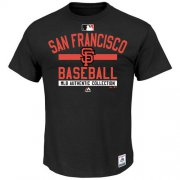 Wholesale Cheap San Francisco Giants Majestic Big & Tall Authentic Collection Team Property T-Shirt Black
