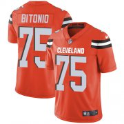 Wholesale Cheap Nike Browns #75 Joel Bitonio Orange Alternate Youth Stitched NFL Vapor Untouchable Limited Jersey