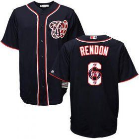 Wholesale Cheap Nationals #6 Anthony Rendon Navy Blue Team Logo Fashion Stitched MLB Jersey