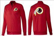 Wholesale Cheap NFL Washington Redskins Team Logo Jacket Red_1