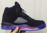 Wholesale Cheap Air Jordan 5 Raptors Black/Ember Glow-Fierce Purple