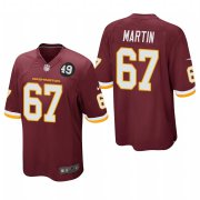 Cheap Washington Redskins #67 Wes Martin Men's Nike Burgundy Bobby Mitchell Uniform Patch NFL Game Jersey