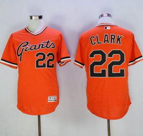 Wholesale Cheap Giants #22 Will Clark Orange Flexbase Authentic Collection Cooperstown Stitched MLB Jersey