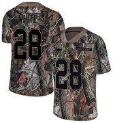 Wholesale Cheap Nike Patriots #28 James White Camo Men's Stitched NFL Limited Rush Realtree Jersey
