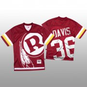 Wholesale Cheap NFL Washington Redskins #36 Sean Davis Red Men's Mitchell & Nell Big Face Fashion Limited NFL Jersey