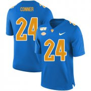 Wholesale Cheap Pittsburgh Panthers 24 James Conner Blue 150th Anniversary Patch Nike College Football Jersey