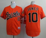 Wholesale Cheap Orioles #10 Adam Jones Orange Cool Base Stitched MLB Jersey