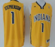 Wholesale Cheap Indiana Pacers #1 Lance Stephenson Revolution 30 Swingman Yellow Jersey