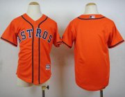Wholesale Cheap Astros Blank Orange Cool Base Stitched Youth MLB Jersey