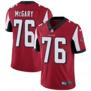 Wholesale Cheap Nike Falcons #76 Kaleb McGary Red Team Color Men's Stitched NFL Vapor Untouchable Limited Jersey