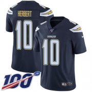 Wholesale Cheap Nike Chargers #10 Justin Herbert Navy Blue Team Color Men's Stitched NFL 100th Season Vapor Untouchable Limited Jersey