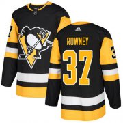 Wholesale Cheap Adidas Penguins #37 Carter Rowney Black Home Authentic Stitched NHL Jersey
