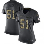Wholesale Cheap Nike Falcons #51 Alex Mack Black Women's Stitched NFL Limited 2016 Salute to Service Jersey