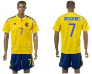 Wholesale Cheap Ukraine #7 Shevchenko Home Soccer Country Jersey
