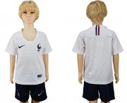 Wholesale Cheap France Blank Away Kid Soccer Country Jersey