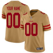 Wholesale Cheap Nike San Francisco 49ers Customized Gold Men's Stitched NFL Limited Inverted Legend Jersey