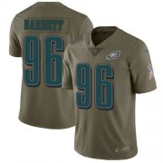 Wholesale Cheap Nike Eagles #96 Derek Barnett Olive Youth Stitched NFL Limited 2017 Salute to Service Jersey