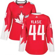 Wholesale Cheap Team Canada #44 Marc-Edouard Vlasic Red 2016 World Cup Women's Stitched NHL Jersey